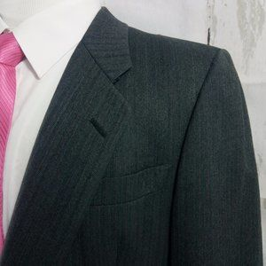 Christian Dior Grand Luxe Dk Gray Suit Blazer 43R